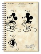 Walt Disney Mickey Mouse Patent 1929 - Vintage Spiral Notebook