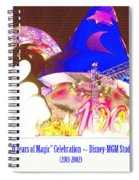 Walt Disney World 100 Years Of Magic Celebration 2001-2002 Spiral Notebook