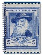 Walt Whitman Postage Stamp Spiral Notebook