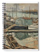 Walter  E  Schofield 1867-1944 Dock With Shed Spiral Notebook