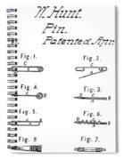 Walter Hunts Safety Pin Designs Spiral Notebook