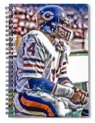 Walter Payton Chicago Bears Art 2 Spiral Notebook