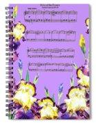 Waltz Of The Flowers Dancing Iris Spiral Notebook