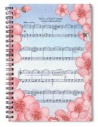 Waltz Of The Flowers Dancing Pink Spiral Notebook