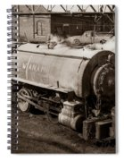 Wanamie Pennsylvania Coal Mine Locomotive Lokey 1969... Spiral Notebook