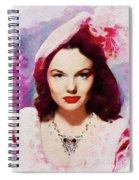 Wanda Hendrix, Vintage Movie Star Spiral Notebook