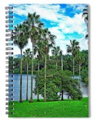 Waokele Pond Palms And Sky Spiral Notebook