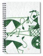 Warli Farmers In Bullock Cart Spiral Notebook