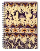 Warli Procession Spiral Notebook