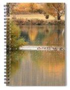Warm Autumn River Spiral Notebook