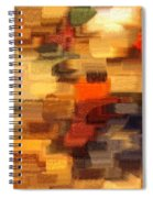 Warm Colors Abstract Spiral Notebook