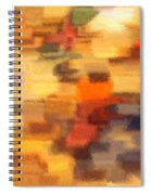 Warm Colors Under Glass - Abstract Art Spiral Notebook