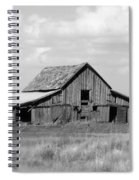 Warm Memories - Black And White Spiral Notebook