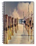 Warm Reflections In The Marina Spiral Notebook