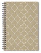 Warm Sand Quatrefoil Spiral Notebook