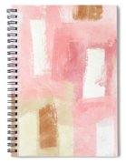 Warm Spring 2- Abstract Art By Linda Woods Spiral Notebook