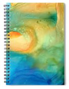 Warm Tides - Abstract Art By Sharon Cummings Spiral Notebook