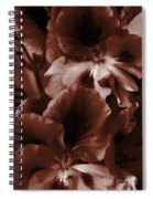 Warm Tone Monochrome Floral Art Spiral Notebook
