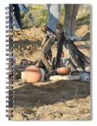 Warming The Pots Before Firing Spiral Notebook