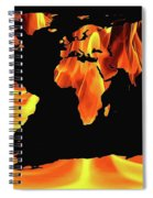 Warming World Map Spiral Notebook