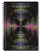 Warping Neon Spiral Notebook