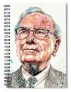 Warren Buffett Portrait Spiral Notebook