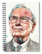 Warren Buffett Portrait Spiral Notebook