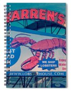 Warrens Lobster House Neon Sign Kittery Maine Spiral Notebook