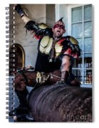 Warrior On A Cannon - New Orleans Spiral Notebook