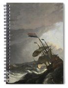 Warships In A Heavy Storm Spiral Notebook