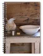 Wash Bowl Pitcher And Cup Spiral Notebook