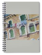 Washday In Venice Spiral Notebook
