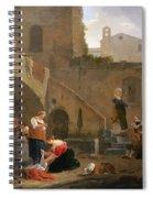 Washerwomen By A Roman Fountain Spiral Notebook