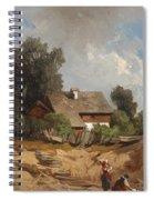 Washerwomen By The River Spiral Notebook