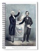 Washington And Lincoln Spiral Notebook