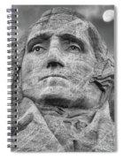 Washington And Setting Moon Bw Spiral Notebook