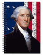 Washington And The American Flag Spiral Notebook