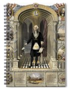 Washington As A Freemason Spiral Notebook