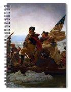 Washington Crossing The Delaware Painting - Emanuel Gottlieb Leutze Spiral Notebook