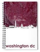 Washington Dc Skyline Map 3 Spiral Notebook