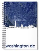 Washington Dc Skyline Map 4 Spiral Notebook