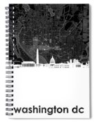 Washington Dc Skyline Map 5 Spiral Notebook