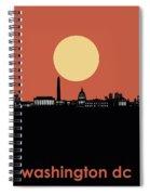 Washington Dc Skyline Minimalism 3 Spiral Notebook