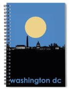Washington Dc Skyline Minimalism 4 Spiral Notebook