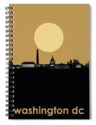 Washington Dc Skyline Minimalism 5 Spiral Notebook