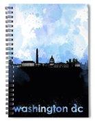 Washington Dc Skyline Minimalism 8 Spiral Notebook