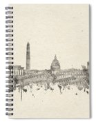 Washington Dc Skyline Music Notes 2 Spiral Notebook
