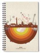 Washington Dc Skyline Retro Spiral Notebook