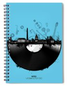 Washington Dc Skyline Vinyl 2 Spiral Notebook