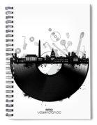 Washington Dc Skyline Vinyl Spiral Notebook